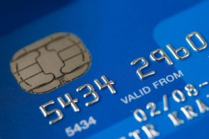 A bank savings account card