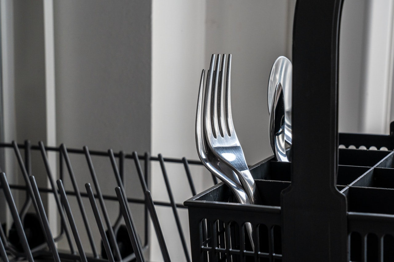 A dishwasher tray