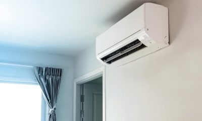 An air conditioner on a wall