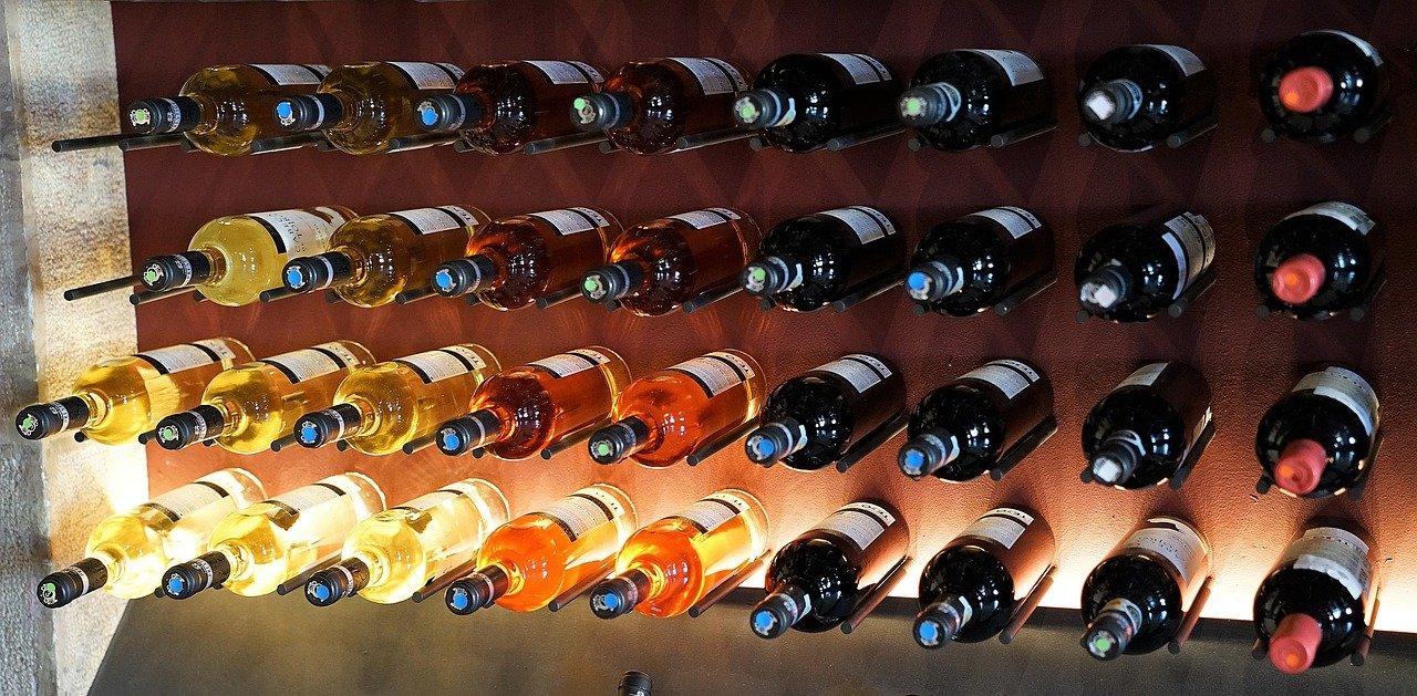Many bottles of wine