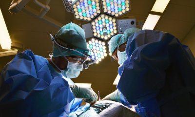 Two doctors wearing medical scrubs